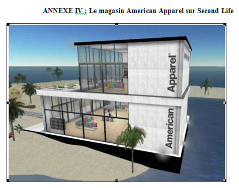 American Apparel sur SecondLife avant la fermeture